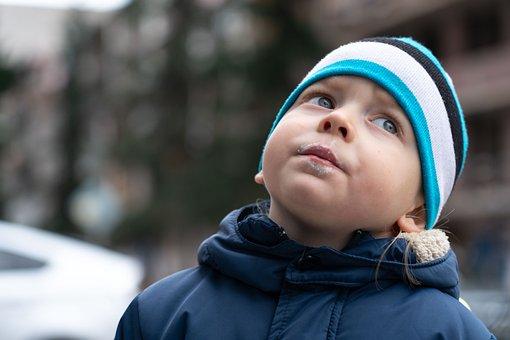 Boy, Look, Face, Winter Clothes, Jacket, Bonnet