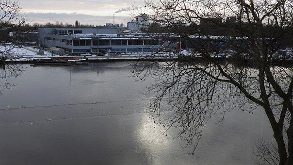 Winter, Ice, Landscape, Frozen, Frost, Snow, River