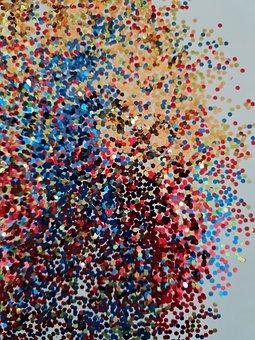 Glittering Sand, Glitter, Colorful, Confetti