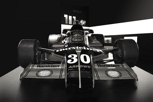 Formula 1 Car, Black White, Warsteiner, Harry Stoll