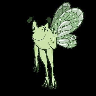 Frog Fairy, Frog, Green, Fantasy, Garden, Nature