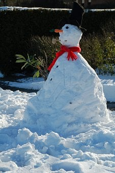 Snowman, Snow, Winter, Scarf, Hat, Figure