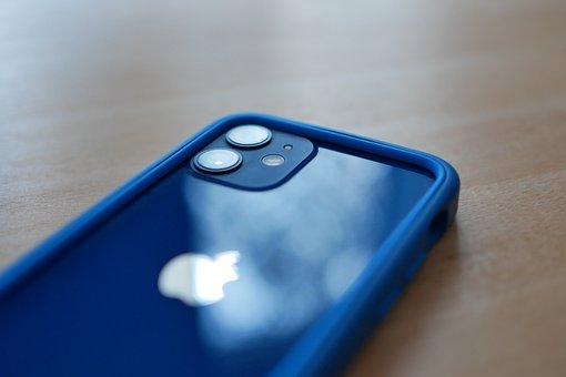 Iphone, Iphone 12, Blue, Sleeve, Smartphone