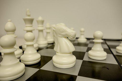 Chess, Chess Board, Play, Springer, Horse, Figures