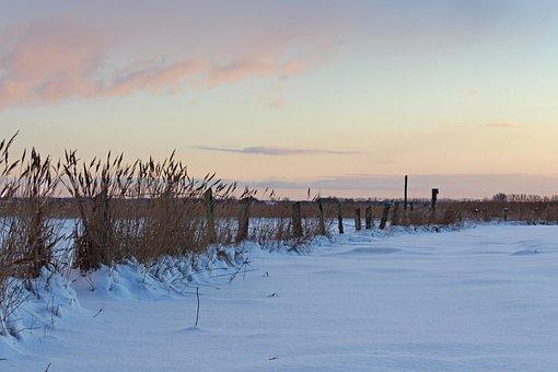 Winter Evening, Winter, Sunset, Cold, Romantic