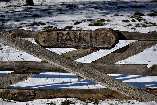 Ranch, Panel, Sign, Writing, Horse, Horses, Enclosures