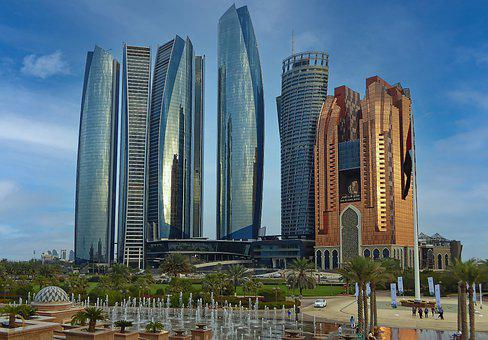 U A E, Abu Dhabi, Capital, City, Skyscrapers