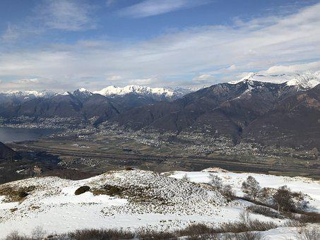 Panorama From The Top Of Medeglia, Alpine Route, Alps