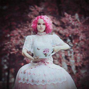 Woman, Fashion, Dress, Grape Harvest, Beauty, Beautiful
