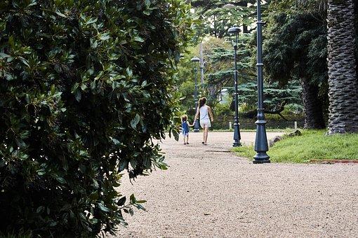 Caucasian, Day, Exercise, Forest, Garden, Girl Walking