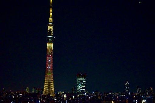 Tokyo, Japan, City, Night, Buildings, Skyscrapers