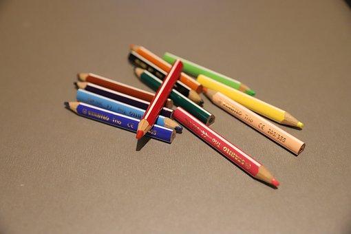 Crayons, Colors, School, Children, Draw, Child
