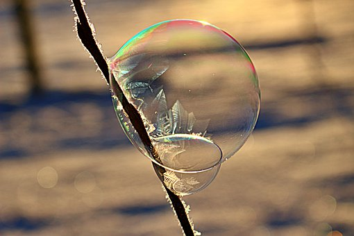 Soap Bubble, Ice Bubble, Frost Bubble, Frozen Bubble