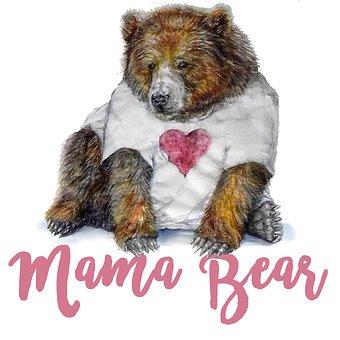 Valentine's Day, Valentine, Heart, Pink, Bear, Mama