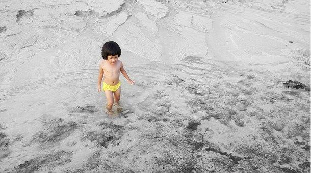 Beach, Child, People, Landscape, Ocean, Sea, Kid