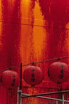 Red, Lantern, Cicada, Light, Chinese, Orange, Lampion