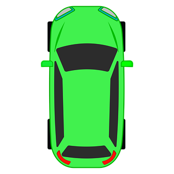 Auto, Top, Vehicle, Green, Learn, Aerial View