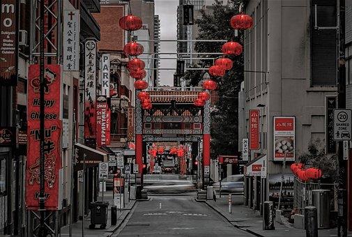 Street, Red, Car, London, Goodbye, Kimono, Chinese