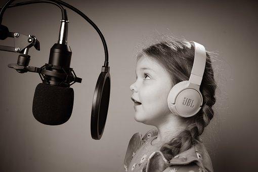 Girl, Singing, Singer, Music, Microphone, Song, Sing