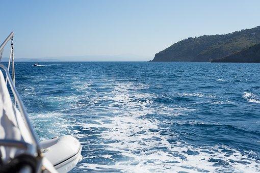 Boat, Sea, Water, Ship, Sky, Summer, Nature, Sunrise