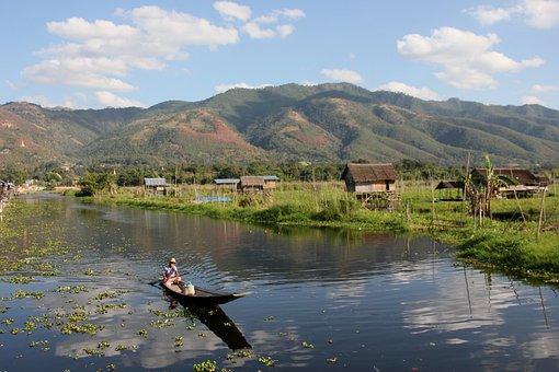 Water, Lake, Mountains, Landscape, Nature