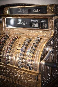 Vintage, Antique, Cash Register, No Sale, Register, Old