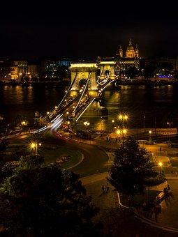 Bridge, City, Travel, Retro, Architecture, Skyline