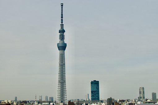 Japan, Tokyo, Building, Skytree, Day, Cityscape