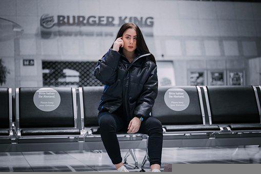Airport, Waiting, Girl, Departure, Tourism, Travel