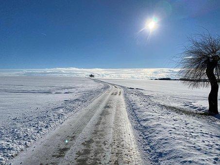 Winter's Day, Sunny, Sun, Snow, Away In The Snow, Sky