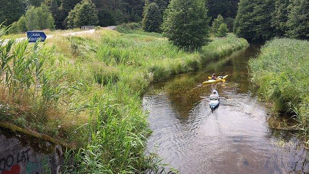 Augustów Canal, Channel, Kayaks