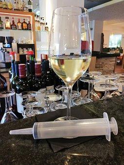 White Wine, Wine, Wine Glass, Bar, Alcohol, Syringe