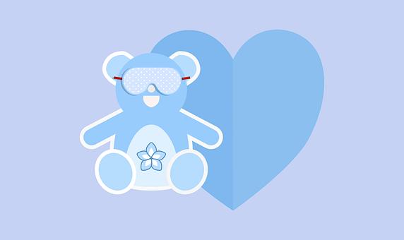 Card, Valentine, Romantic, Bear, Tenderness, Heart