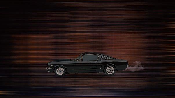 Car, Motion, Color, Smoke, Photoshop, Dream