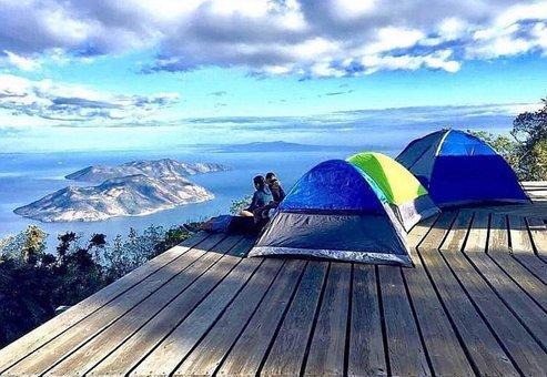 Mountain, Landscape, Views, Sea, Couple, Valentine, Sky