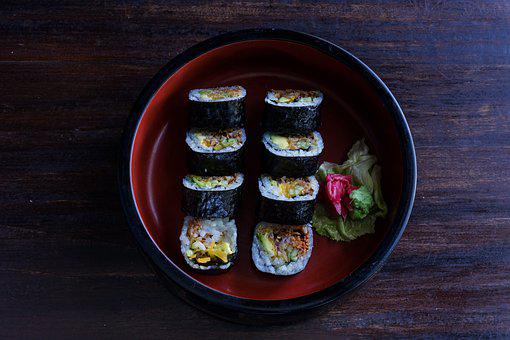 Food, Sushi, Dish, Japanese, Cuisine, Meal, Dinner