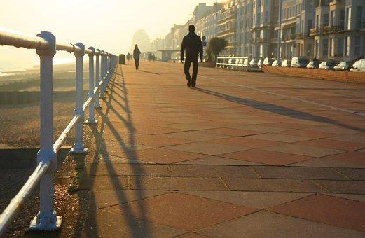 Hastings, East Sussex, England, Beach, Walking