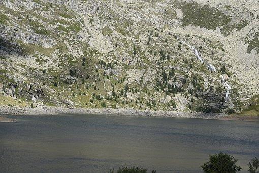 Pyrenees, Lleida, Estany Gento, Rock, Landscapes