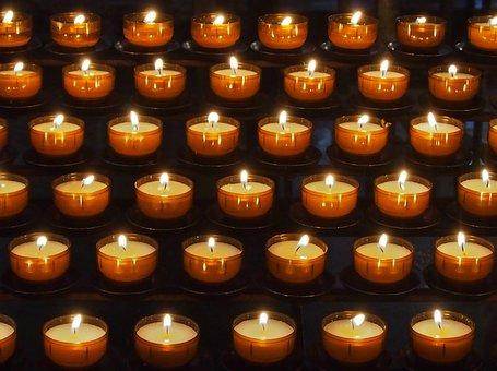 Candle, Votive Light, Religion, Faith, Candlelight