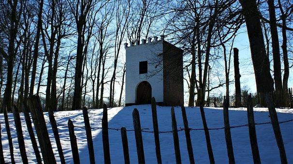Dovecote, Fence, Hill, Snow, Nature, Heaven, Landscape