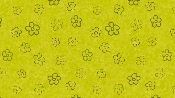 Flowers, Floral, Doodle, Spring, Hand Drawn, Green