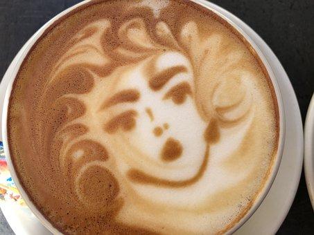 Coffee, Coffee Art, Cappuccino, Foam, Cafe, Batten
