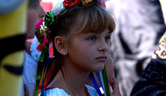 Girl, Holiday, Ukraine, Ribbons, Outfit, Ukrainka, Tape