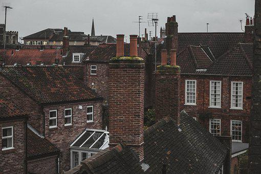 Chimneys, Roofs, Houses, Rooftops, Architecture