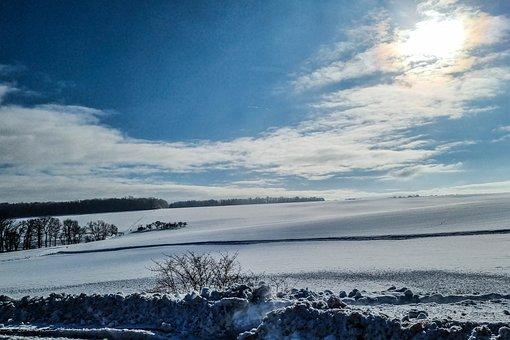 Snow, Field, Sun, Winter, Nature, Landscape, Snowy