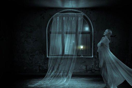 Fantasy, Window, Spooky, Woman, Spirit, Light