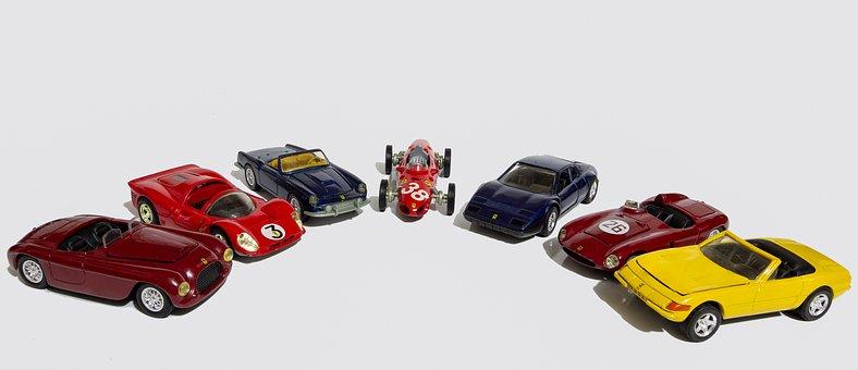 Cars, Miniature, Vehicle, Speed, Ferrari, Sport, Design