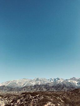 Mountain Ranges, Blue Sky, Mountainous