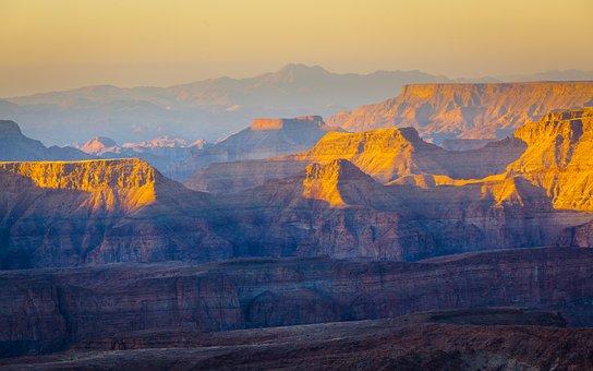 Sunrise, Desert, Mountains, Mountainous
