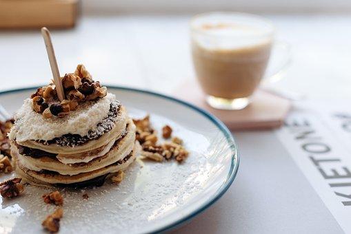 Pancakes, Breakfast, Food, Meal, Dish, Dessert, Pastry